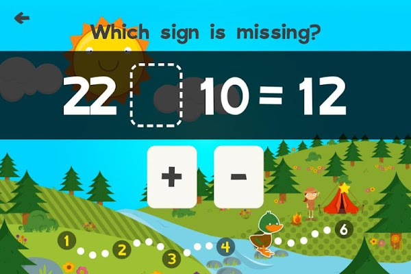 Animal Second Grade Math Games for Kids Free App - screenshot
