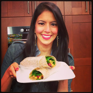 Food Babe's Chickpea Curry Wraps.