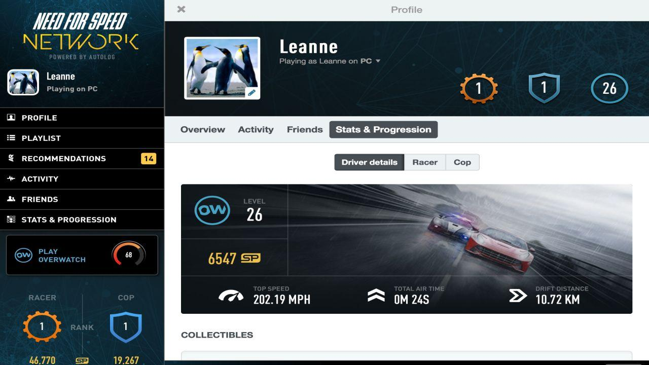 Need for speed network screenshot
