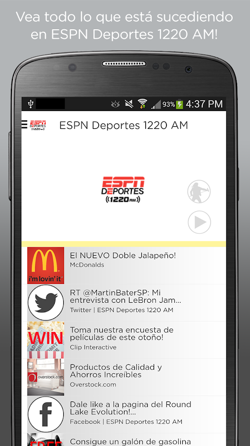 ESPN Deportes 1220 AM- screenshot
