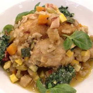 Braised Baby Chicken With Vegetable Minestrone