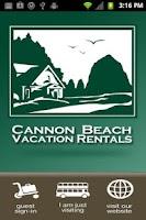 Screenshot of Cannon Beach Vacation Rentals