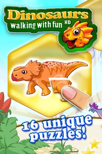 カラフルなパズルで男の子と女の子のための恐竜パズルHD