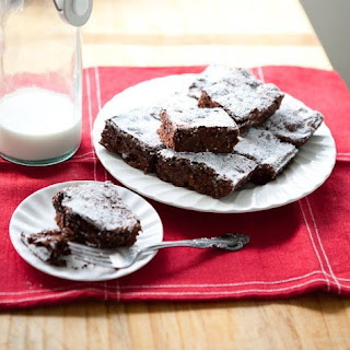 Double Chocolate Cherry Quinoa Brownies.