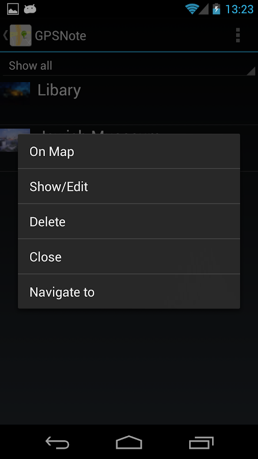 GPS Notes - screenshot