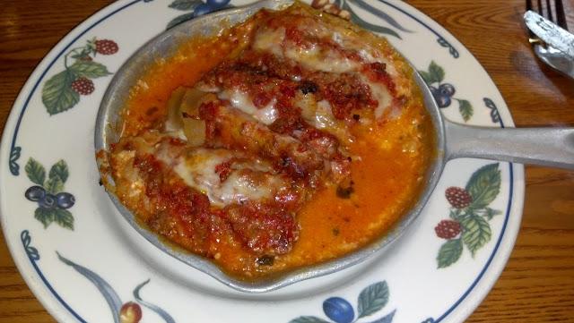 GF Lasagna made with rice noodles.  Delicious!