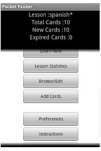 Pocket Pauker Flashcards- screenshot thumbnail