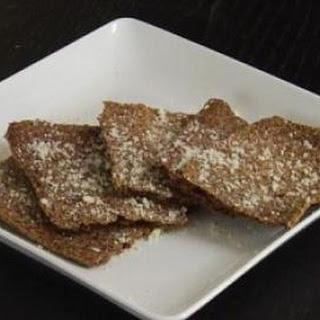 Garlic Parmesan Flax Seed Crackers.