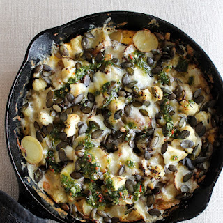 A Brunch Frittata with Chimichurri.