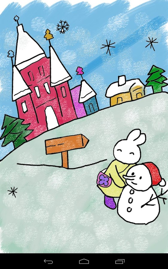 Kids Paint Christmas Cards- screenshot