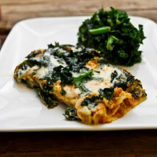 Pumpkin Goat Cheese & Kale Lasagna