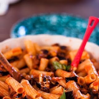 Pasta With Fried Aubergines.