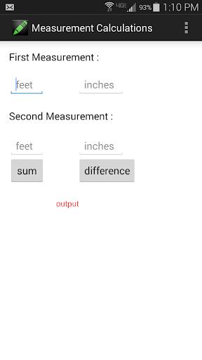 Simple Measurement Calculator
