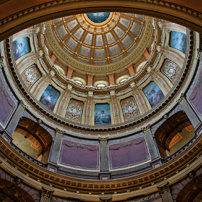 State of Michigan Capital Building by Luanne Bullard Everden - Buildings & Architecture Architectural Detail ( michigan, details, rotunda, state, buildings, architecture, , Architecture, Ceilings, Ceiling, Buildings, Building )