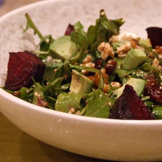 Beet & Goat Cheese Arugula Salad