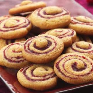 Cranberry-Honey Spice Pinwheel Cookies.