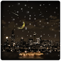 Snow in the city icon