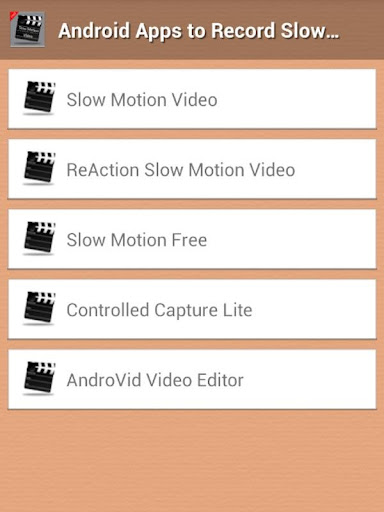 Record Slow Motion Guide