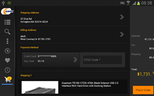 Newegg for Google TV - screenshot thumbnail