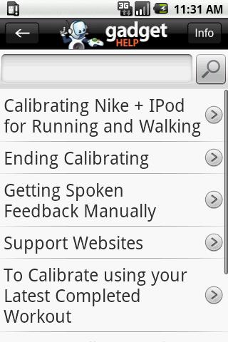 Apple Nike+Sport - Gadget Help - screenshot