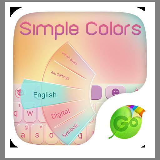 Simple Colors Keyboard Theme 個人化 LOGO-玩APPs