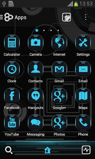 玩個人化App|ネオンブルーテック囲碁テーマ免費|APP試玩