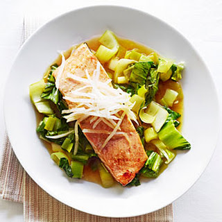 Salmon with Citrus-Soy Sauce and Bok Choy.