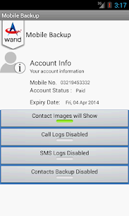Warid Mobile Backup - Pakistan- screenshot thumbnail