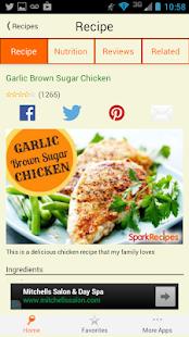 Healthy Recipes - SparkRecipes - screenshot thumbnail