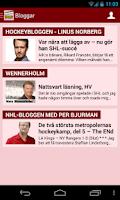 Screenshot of Sportbladet Hockey