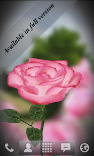 3D Rose Live Wallpaper Free - screenshot thumbnail