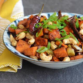 Kung Pao Sweet Potatoes.