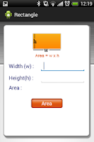 Screenshot of Area Volume and Conversion