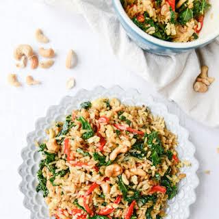 Garlic Kale and Cashew Fried Rice.