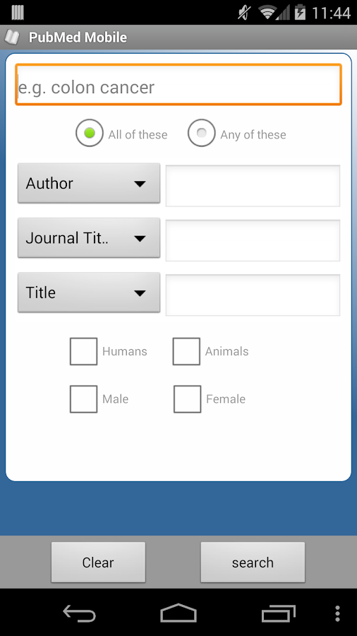 PubMed Mobile- screenshot