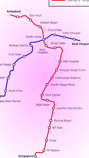 자이푸르 지하철 노선도