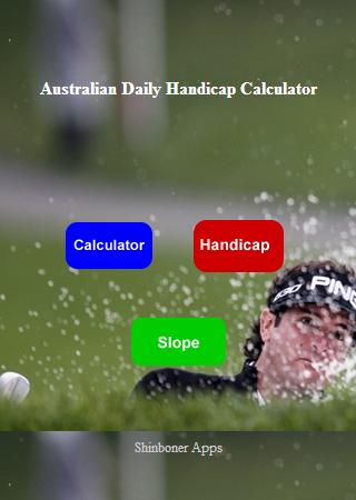 Aust Daily Handicap Calculator