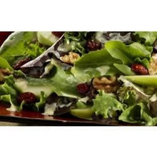 Baby Lettuces with Green Apple, Walnuts, and Dried Cranberries.
