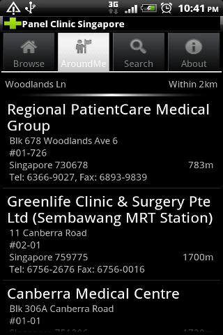 Panel Clinic Singapore - screenshot