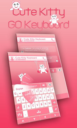GO Keyboard Cute Kitty Theme 3.87 screenshot 640258