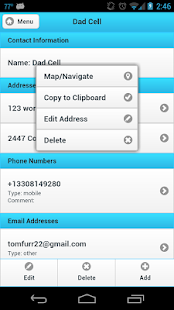 Ultimate Address Book - screenshot thumbnail