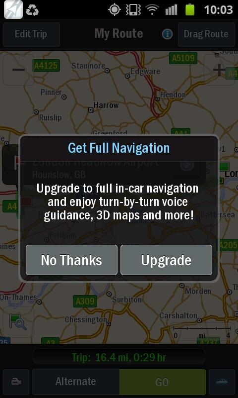 CoPilot GPS - screenshot