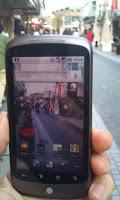 Screenshot of Camera through wallpaper