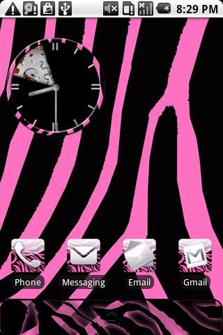 Zebra Print Pink Theme HD - screenshotPink Zebra Print Hd
