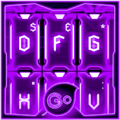 GO Keyboard Purple Tech Theme