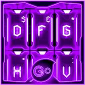 GO Keyboard Purple Tech Theme