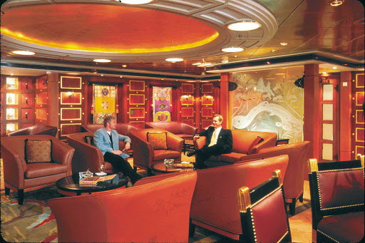 Adventure-of-the-Seas-Connoisseurs-Club - If you're a smoker, head to the Connoisseurs Cigar Club aboard Adventure of the Seas to smoke your choice of top-of-the-line cigars.