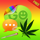 Theme Weed Ganja for GO SMS