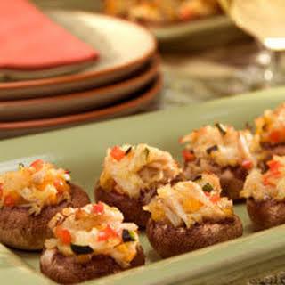 Crab & Veggie Stuffed Mushrooms.