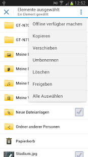 WEB.DE Online-Speicher - screenshot thumbnail